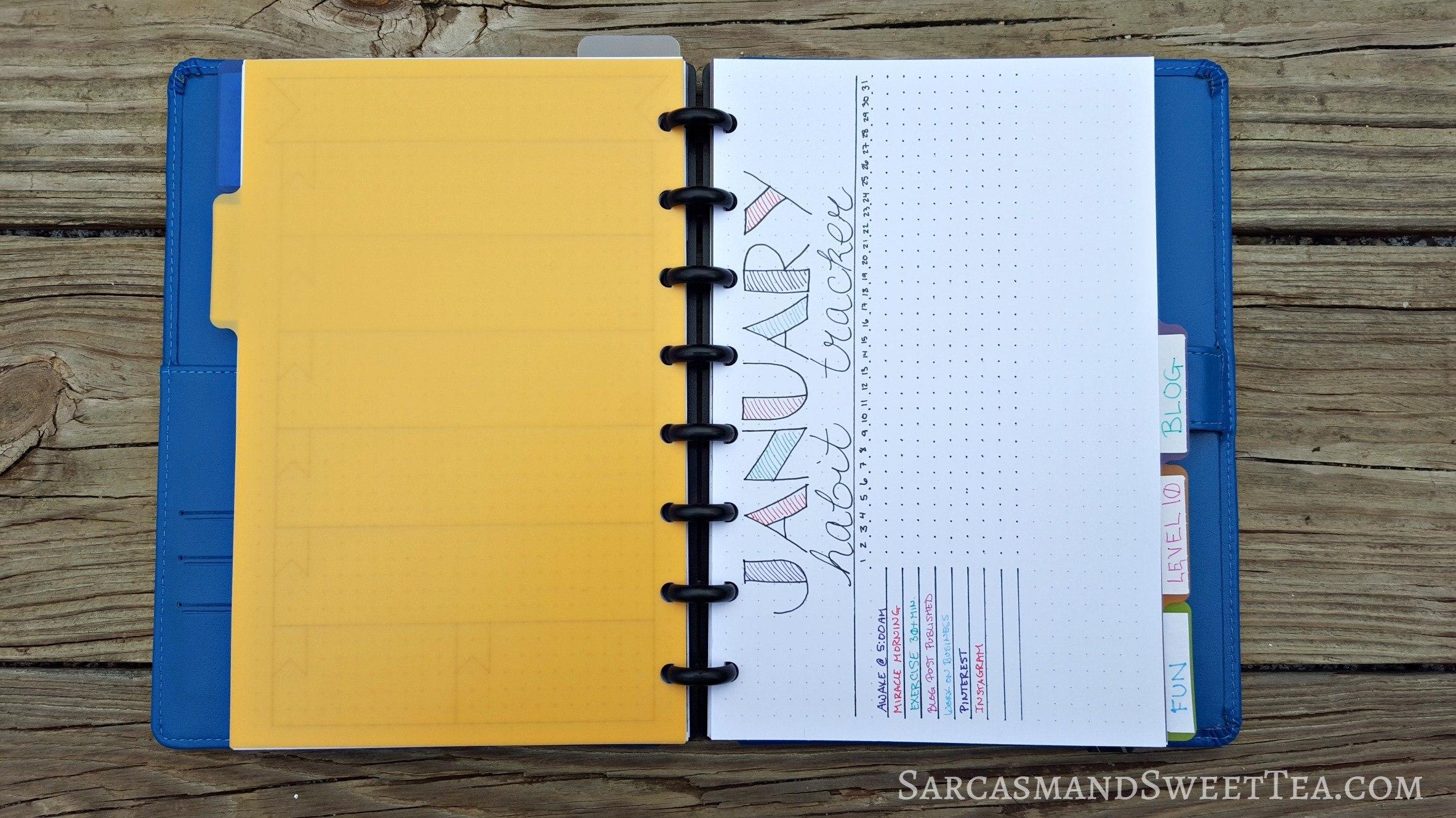 Bullet Journal Habit Tracker | Sarcasm & Sweet Tea