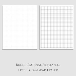 Bullet Journal Dot Grid and Graph Paper Printable