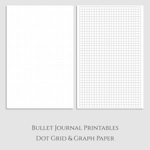 Dot Grid and Graph Half Letter Printable