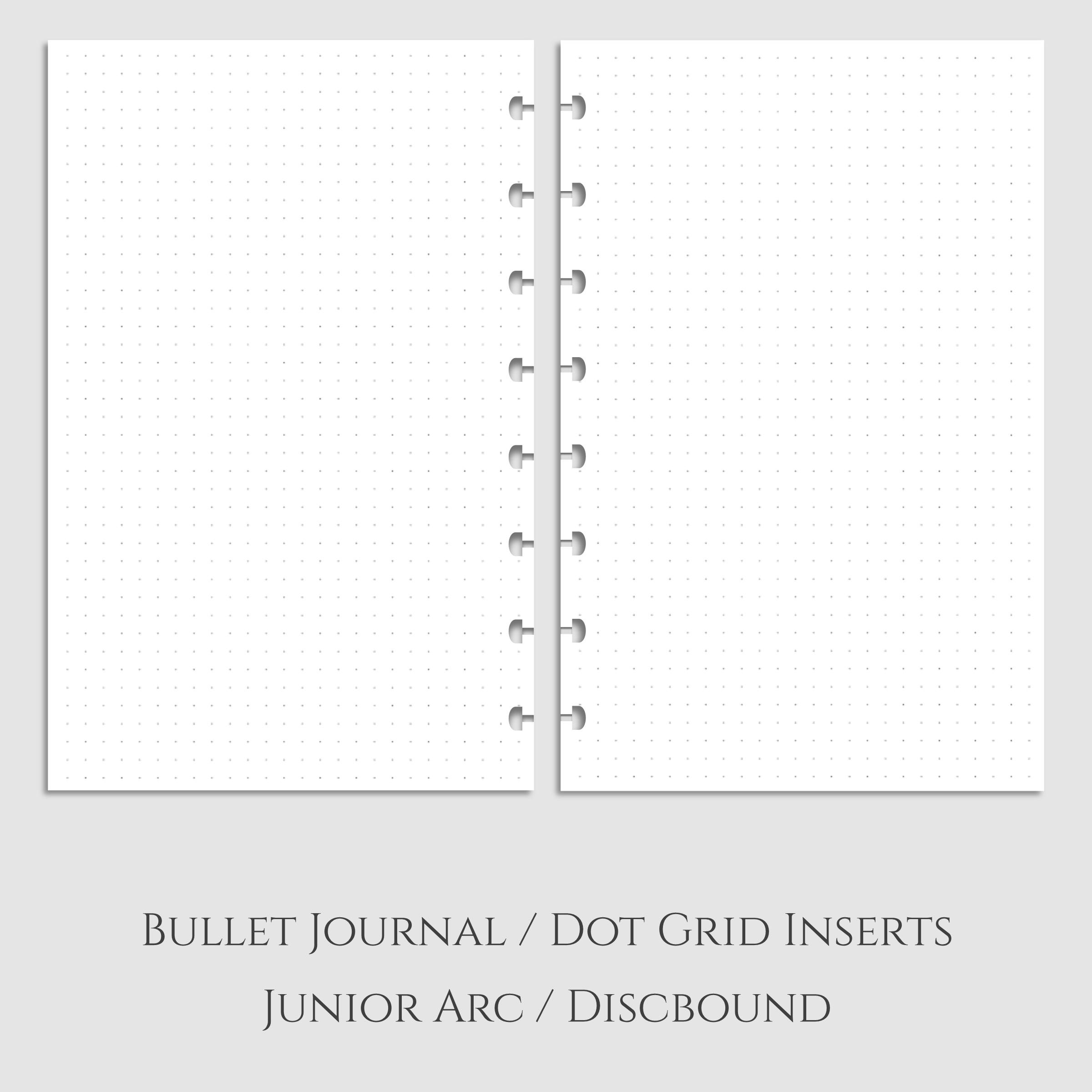 Bullet Journal Dot Grid Discbound Inserts