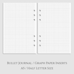 Bullet Journal Graph Paper Planner Inserts