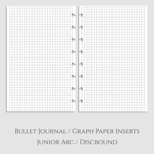 Bullet Journal Graph Paper Discbound Inserts