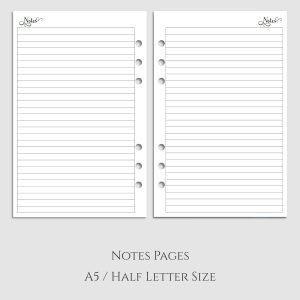 Notes Pages Planner Inserts