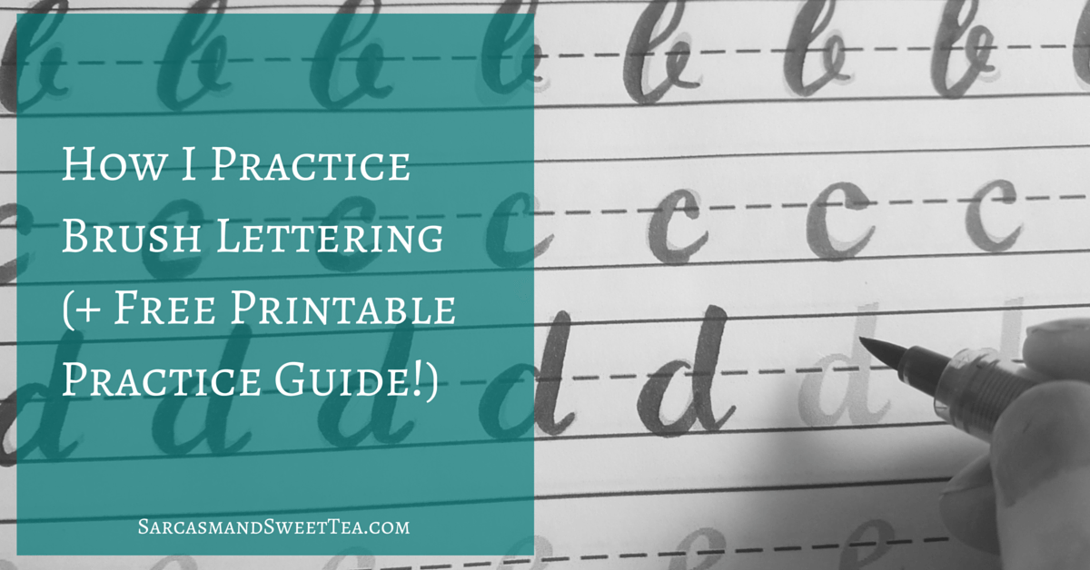 Printable Worksheets printable calligraphy worksheets : How I Practice Brush Lettering (+ Free Printable Practice Guide ...